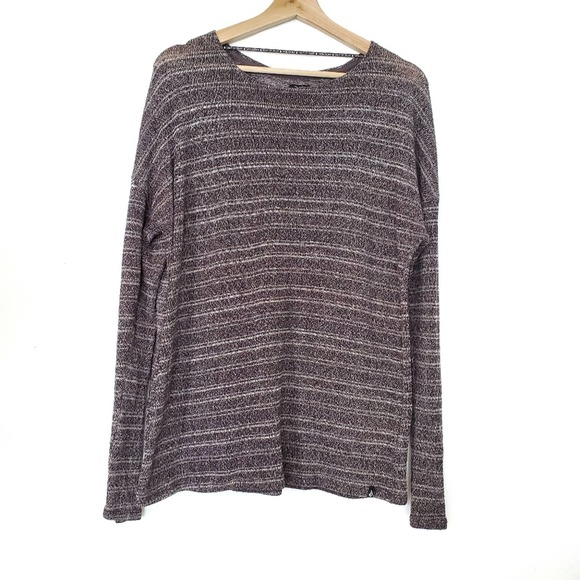 Volcom | Gray Striped Knit Sweater Top